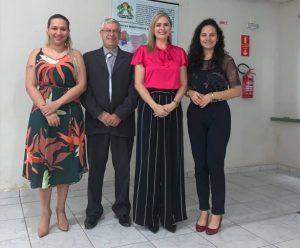 Dra. Izabel Coelho, Dr. Carlos Schenato, Dra. Vânia Portela e Dra. Juliana Martins