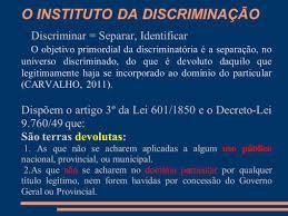 Discriminação de terras